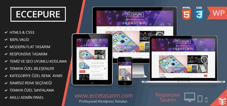 ECCEPURE WordPress Blog Teması Ücretsiz İndir
