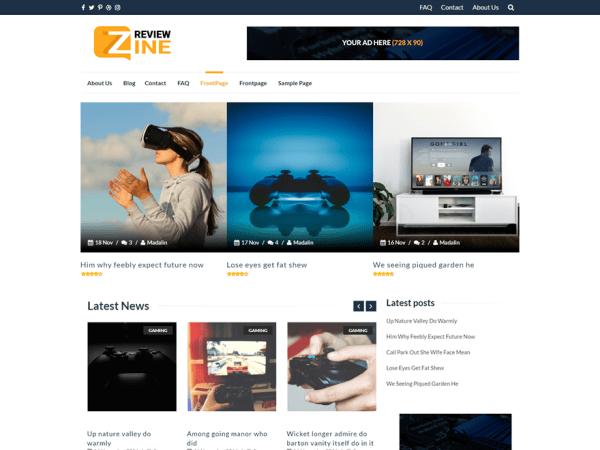 ReviewZine WordPress Teması Ücretsiz İndir