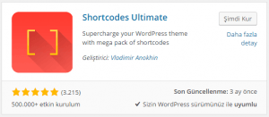 WordPress Gelismis Kisakod Shortcode Eklentisi
