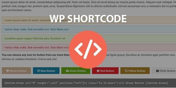 WordPress Gelişmiş Kısakod Shortcodes Eklentisi