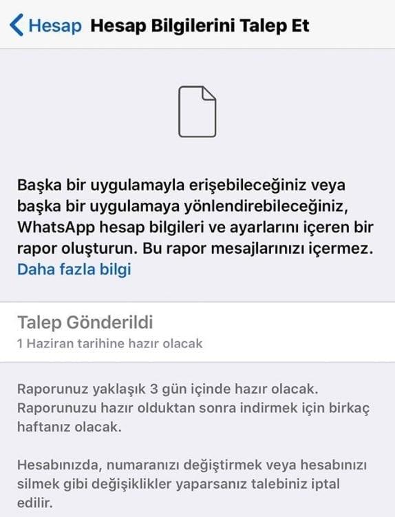 Whatsapp'tan yeni güncelleme.
