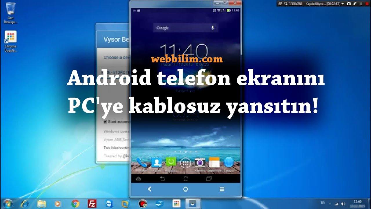 Telefon ekranını PC'ye kablosuz yansıtın!