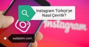 Instagram dil ayarları nasıl değiştirilir