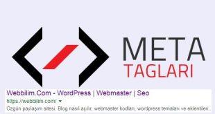 meta tagları nasıl kullanılır