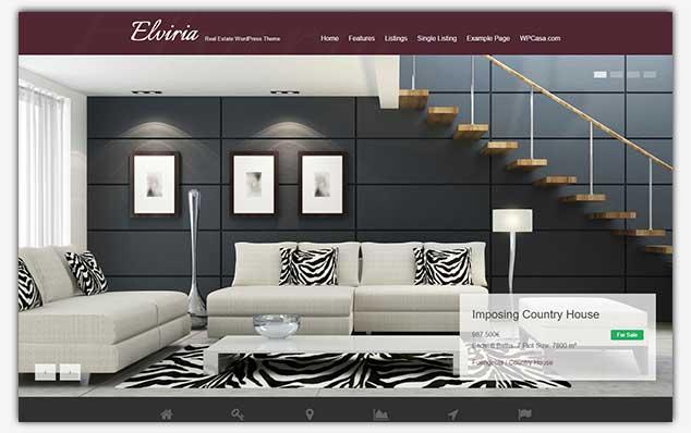 Elviria – (WordPress Emlak Teması)