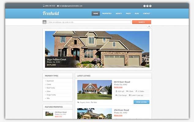 FreeHold – (WordPress Emlak Teması)