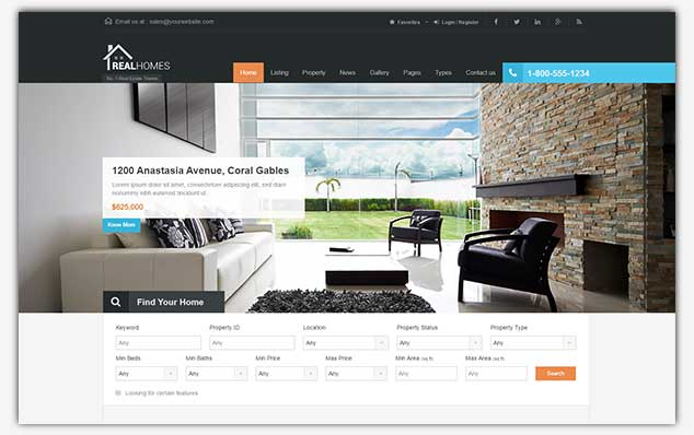 Real Homes – (WordPress Emlak Teması)
