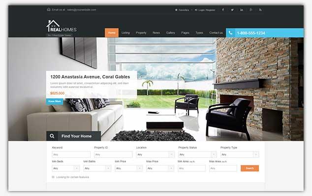 Real Homes – (WordPress Emlak Teması)
