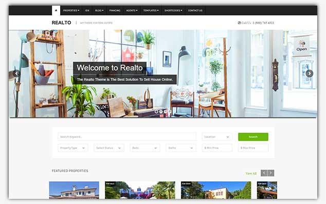 Realto – (WordPress Emlak Teması)