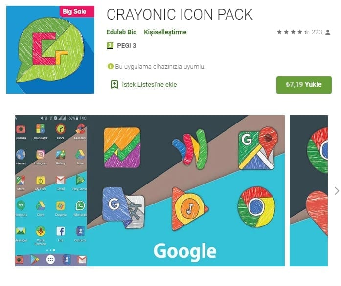 Android Crayonic Icon Pack