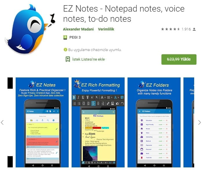 Android EZ Notes