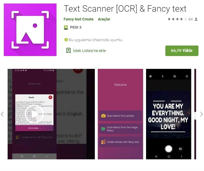 Android Text Scanner
