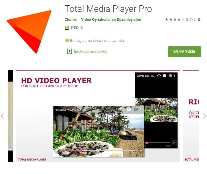 Android Total Media Player Pro