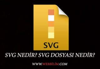 SVG Nedir? SVG Dosyası Ne İşe Yarar?