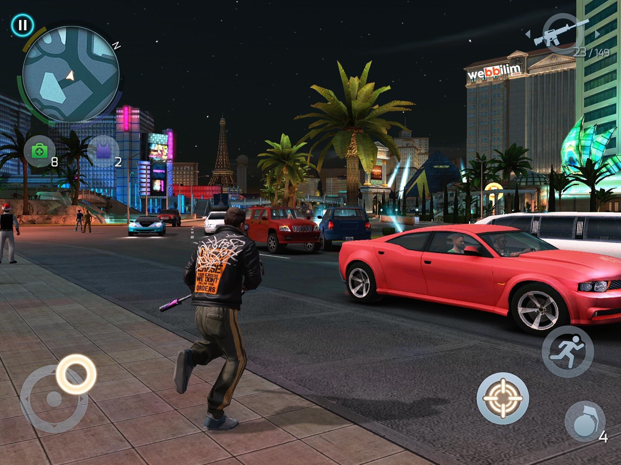 Vegas Gangsteri Mobil Oyun
